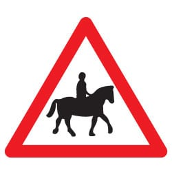 Accompanied Horse or Pony Ahead Sign