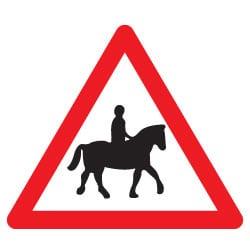 Accompanied Horse or Pony Ahead Sign