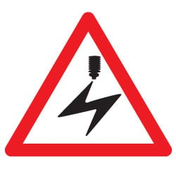 Warning Overhead Electric Cables Sign