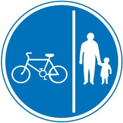 Pedal Cycle and Pedestrian Route Traffic Sign
