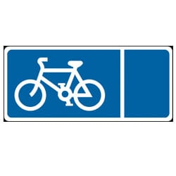 Traffic Signs - Cycle Symbol Sign
