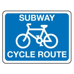 Traffic Signs - Subway Cycle Route Sign
