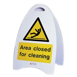 Area closed for cleaning Free Standing Sign