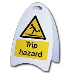 Trip Hazard Free Standing Sign