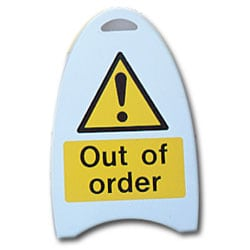 Out of order Free Standing Sign