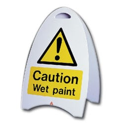Caution Wet Paint Free Standing Sign