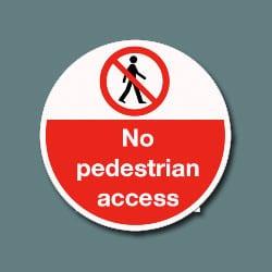 Floor Graphics - No pedestrian access