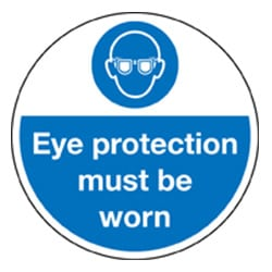 Floor Graphics - Eye protection must be worn