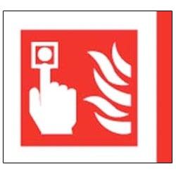 Fire Alarm Aluminium Symbol Sign
