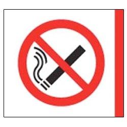 No Smoking Aluminium Symbol Sign