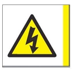 Risk of Electric Shock Aluminium Symbol Sign