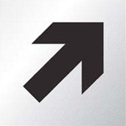 Aluminium Diagonal Arrow Sign