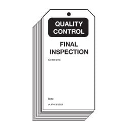 Final Inspection Quality Control Safety Tags