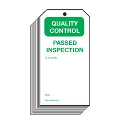 Passed Inspection Quality Control Safety Tags