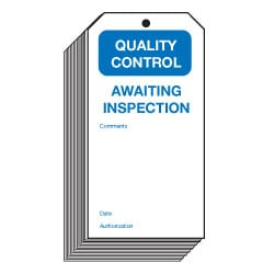 Awaiting Inspection Quality Control Safety Tags