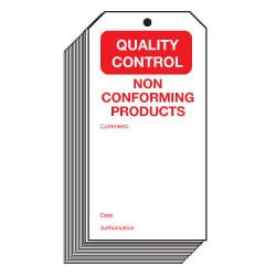 Non Conforming Products Quality Control Safety Tags