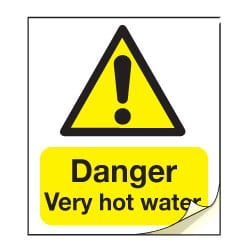 Danger Very Hot Water Safety Labels