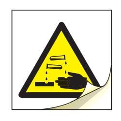 Corrosive Symbol Safety Labels