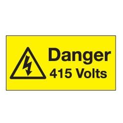 Danger 415 Volts Safety Labels
