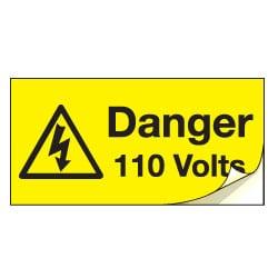 Danger 110 Volts Safety Labels