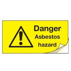 Danger Asbestos Hazard Safety Labels