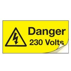 Danger 230 Volts Safety Labels