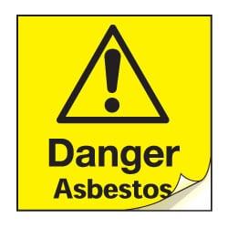 Danger Asbestos Safety Labels