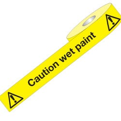 Non Adhesive Barrier Tape - Caution Wet Paint