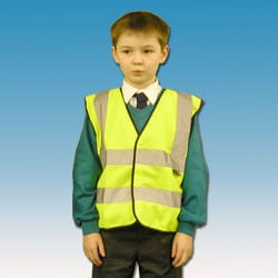 Children's high visibility waiscoat