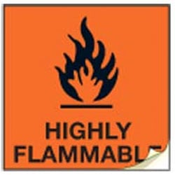 Highly Flammable CHIP Labels