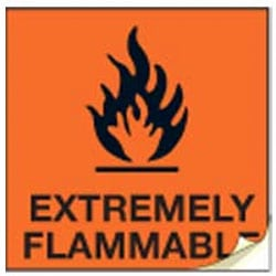 Extremely Flammable CHIP Labels