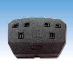 Double Trailing Socket - Black