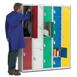 Steel Locker with 3 Compartments