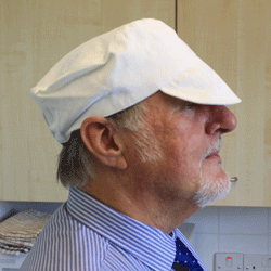 White Cotton Catering Hat