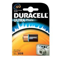 Duracell CR123 Ultra Photo Camera Batteries