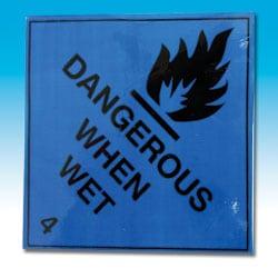 Dangerous When Wet Labels