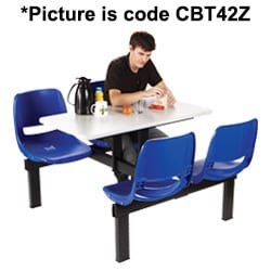 4 Seater Canteen Table - 2 Way Access