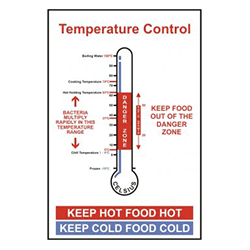 Temperature Control Safety Sign for Kitchens