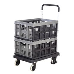 'Foldaway' Platform Trolley with 2 Folding Boxes