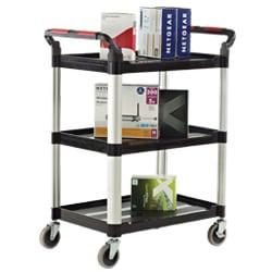 Proplaz 3 Shelf Trolley with Hardwearing Shelves