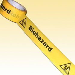 Biohazard tape with symbol