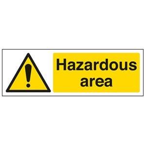 Hazardous Area Sign