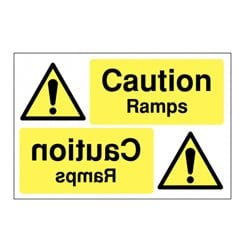Caution Ramps Mirror Sign