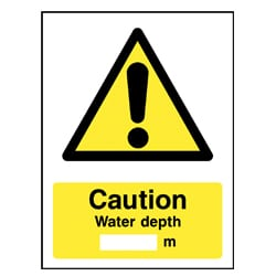 Water Depth Signs