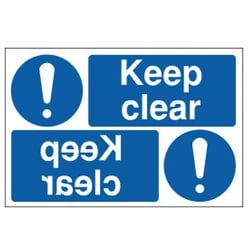 Keep Clear Mirror Sign