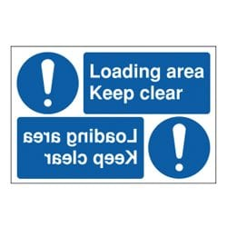 Loading Area Keep Clear Mirror Sign