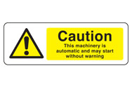 Automatic Machinery Signs