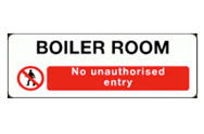 Boiler Room Access Signs