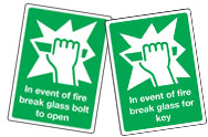 Break Glass Signs
