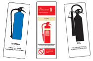 Chemical Fire Extinguisher Signs